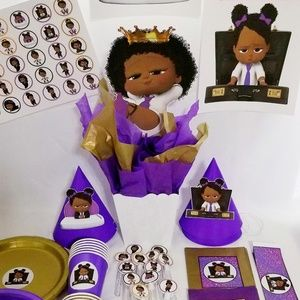 African American Boss baby Party Supplies
